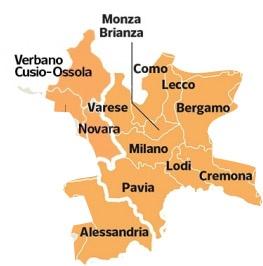 Mappa zone intervento